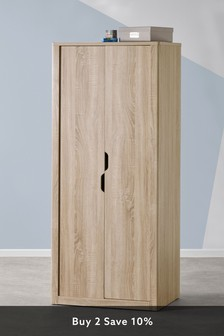 Oak Effect Compton Double Wardrobe