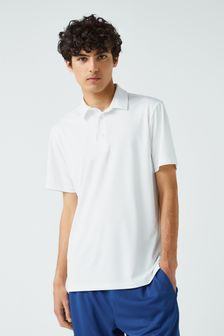 White Regular Fit Pique Poloshirt