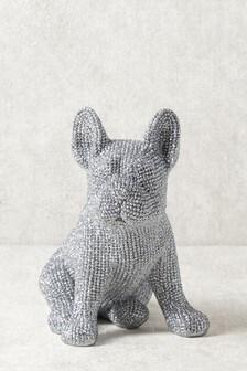 Diamanté Effect Dog Sculpture