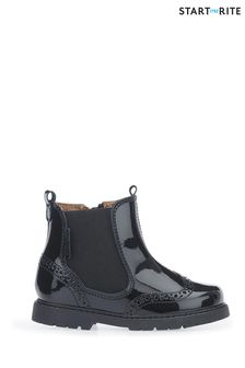 Start-Rite Black Patent Chelsea Boots
