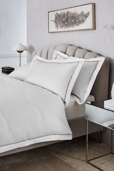 Set of 2 600 Thread Count Cotton Sateen Collection Luxe Pillowcases