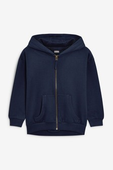 Navy Zip Through Hoodie (3-16yrs)