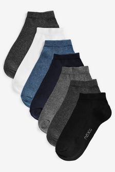 Multi Mixed Trainer Socks Seven Pack (Older)