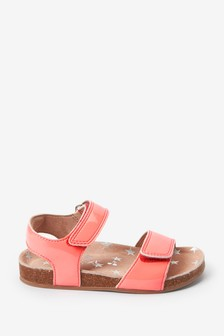 Neon Pink Standard Fit (F) Sandals (Younger)