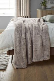 Grey  Super Soft Fleece Throw