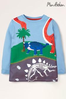 Boden Blue Prehistoric Scene T-Shirt