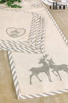Dibor Stag Table Runner and 4 Placemats