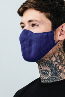 Hype. Adults Navy Knit Face Coverings Three Pack