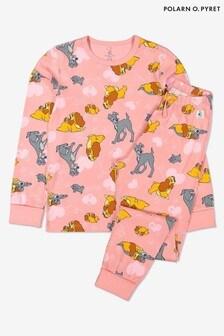 Polarn O. Pyret Pink Gots Organic Lady & The Tramp Pyjamas