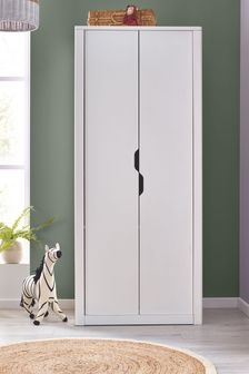 White Compton Double Wardrobe
