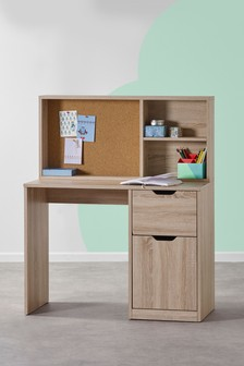Oak Effect Compton Desk and Shelving Set