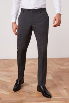 Charcoal Slim Fit Suit: Trousers