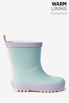 Blue Fleece Lined Wellies (Younger)