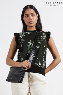 Ted Baker Zaphira Papyrus Woven Front Top