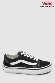 Vans Youth Black/White Old Skool Trainers