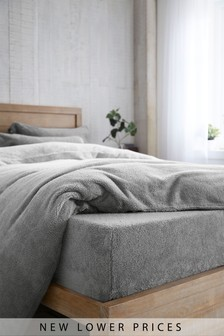 Grey  Super Soft Fleece Fitted Sheet