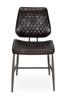 Faux Leather Tarnished Black Set Of 2 Carson Dining Chairs By Design Décor