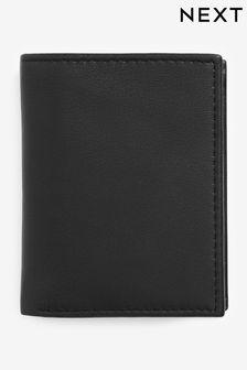 Black Leather Cardholder Wallet