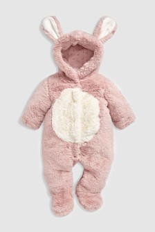 Pink Bunny Pramsuit (0mths-2yrs)