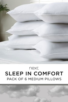 Sleep in Comfort 6 Pack Pillows