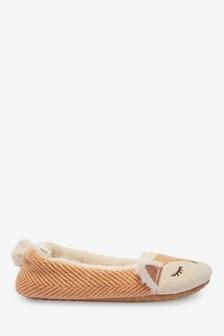Fox Ballerina Slippers