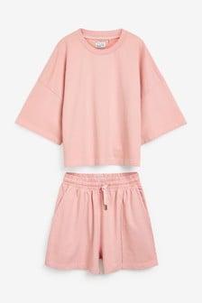Pink Basketball T-Shirt & Short Set