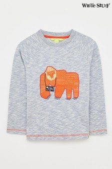 White Stuff Blue Kids Gorilla Paparazzi Sweater