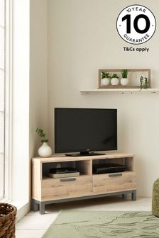 Light Oak Effect Bronx Corner TV Stand