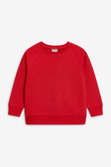 Red Crew Neck Sweater (3-16yrs)