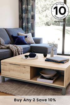 Light Oak Effect Bronx Storage Coffee Table