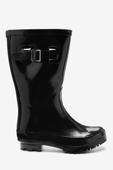 Black Glossy Wellies (Older)