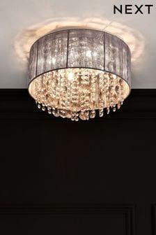 Grey Palazzo Flush Ceiling Light