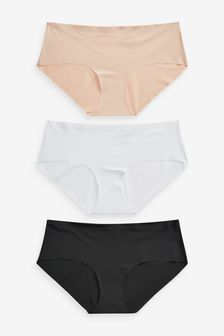 Black/White/Nude Short No VPL Knickers Three Pack