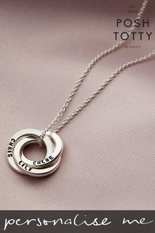 Personalised Mini Russian Ring Necklace by Posh Totty Designs