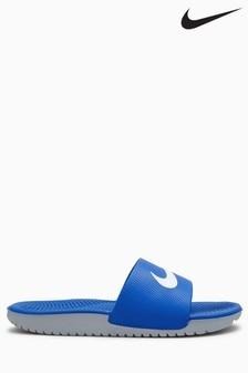 Nike Blue Kawa Sliders
