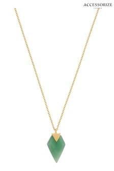 Accessorize Green Aventurine Healing Stone Pendant