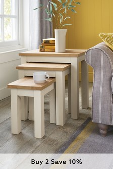 Cream Malvern Nest Of 3 Tables