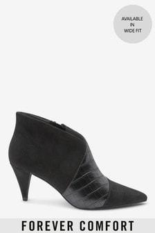 Black Forever Comfort® V-Cut Shoe Boots