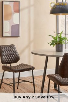 Faux Leather Dark Brown Set Of 2 Carson Dining Chairs By Design Décor