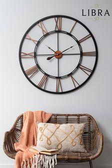 Libra Oversized Metal Skeletal Wall Clock