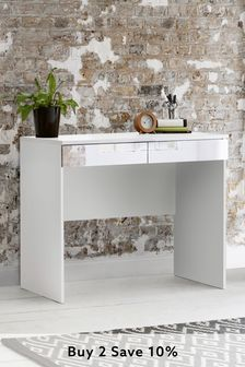 Mirrored Flynn Desk/Console Dressing Table