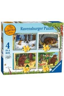 Ravensburger The Gruffalo 4 in Box 12, 16, 20, 24 Piece Jigsaws