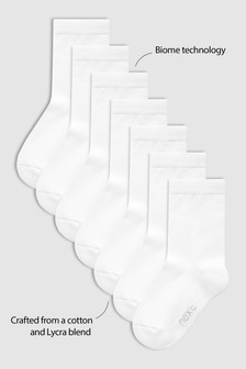 White 7 Pack Socks (Older)