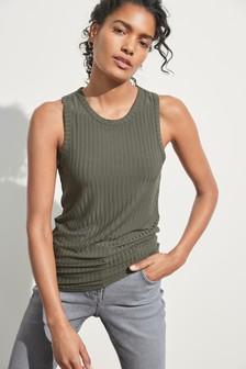 Khaki Premium Rib Vest