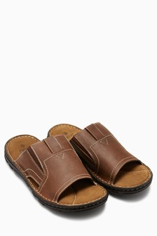 96f1ad53f63b Brown Leather Mule