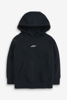 Black Supersoft Hoody (3-16yrs)