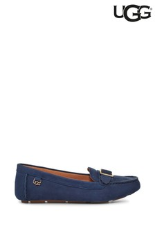 UGG® Navy Suede Lassell Loafers