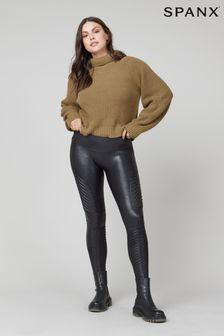 SPANX® Medium Control Faux Leather Moto Leggings