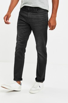 Black Slim Fit Slim Fit Jeans With Stretch