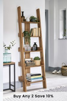 Oak Effect Bronx Ladder Shelf
